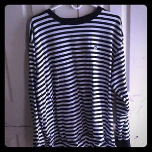 Obey black and white stripped sweatshirt
